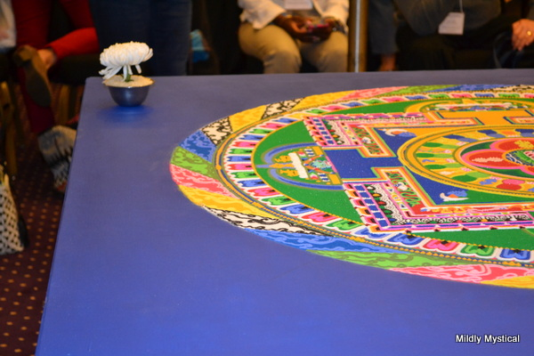 Tibetan Sand Mandala with Lotus