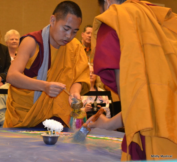 Tibetan Sand Mandala Brushed Away