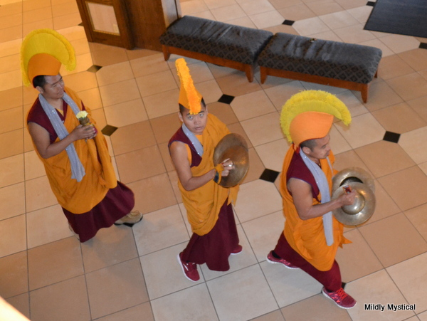 Tibetan Monks in Headdress