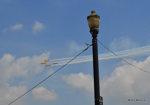 Golden Eagles Flyover