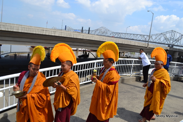 Tibetan Monks Walking to the Ohio River