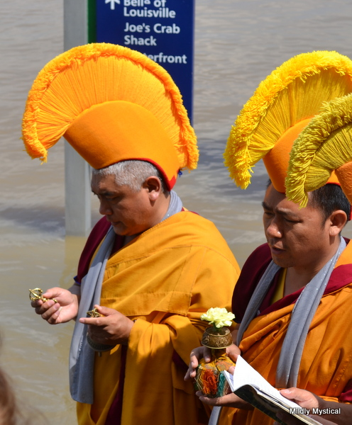 Tibetan Monks at the River